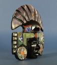 Azteken masker met hoofdtooi