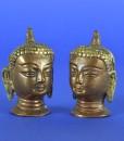 Mini koperen boeddha hoofden