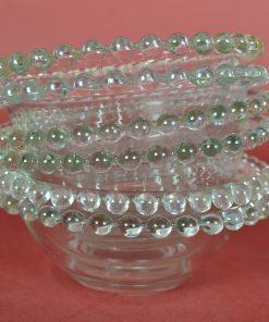 Schaaltje met parelrand van glazen balletjes