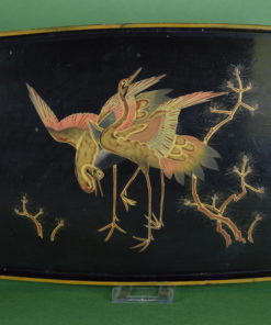 Chinees lak dienblad met kraanvogels