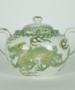 Groene Draak China suikerpot keramiek