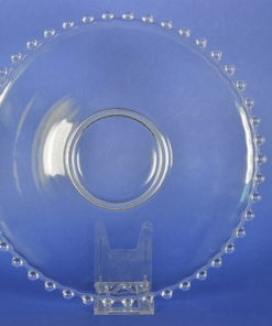 Onderschotel kleurloos met glazen parelrand