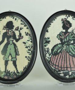 Borduurwerk klassiek silhouet man en vrouw
