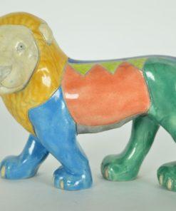 Leeuw Zuid-Afrika Raku Pottery Studio Art